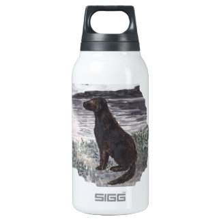 Black Retriever Dog Insulated Water Bottle