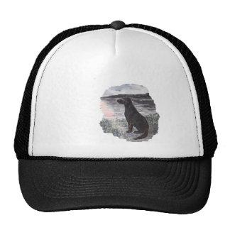Black Retriever Dog Trucker Hat