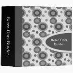 "Black Retro Dots 2"" Designer Binders"