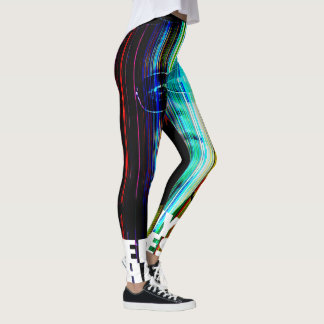 "BLACK RETRO Leggings  - ""JEREMY CHARLES BARNHART"""