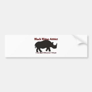 Black Rhino Addict Bumper Sticker