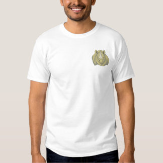 Black Rhino Embroidered T-Shirt