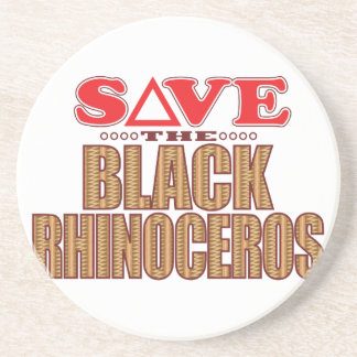 Black Rhino Save Beverage Coasters