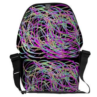 Black Ribbon Cloud Bag Courier Bag