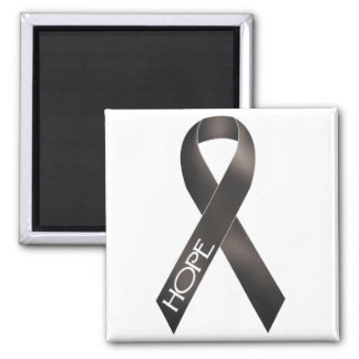 Black Ribbon Square Magnet