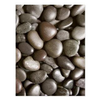 Black River Rock Nature Zen Pebble Postcard
