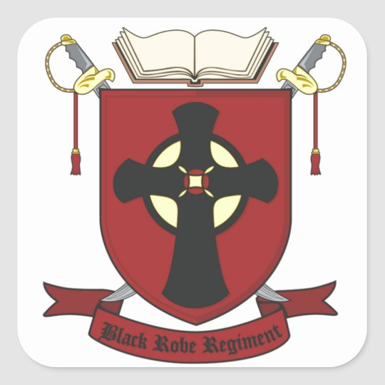 BLACK ROBE REGIMENT SQUARE STICKER