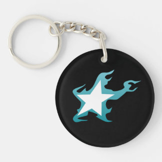 Black Rock Shooter Star Single-Sided Round Acrylic Keychain