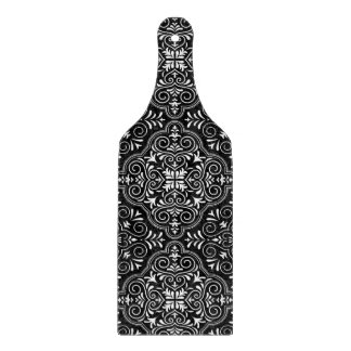 Black Rococo Pattern Flourish Cutting Board