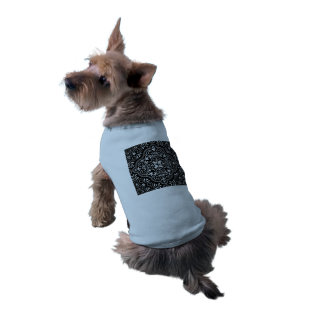 Black Rococo Pattern Flourish Doggie T-shirt