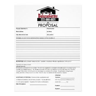 Black Roof Proposal Letterhead