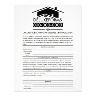 Black Roof Unconditional Waiver & Release on Final Letterhead