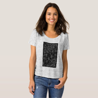 Black Rose and Line Abstract T-Shirt