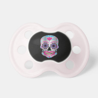 Black Rose Candy Skull Pacifier
