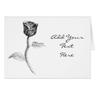 Black Rose. Card