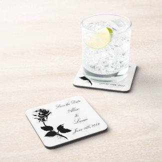 Black Rose Beverage Coaster