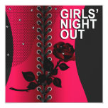 Black Rose Corset Girls Night Out | coral
