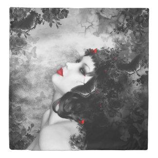 Black Rose Fantasy (2 sides) Queen Duvet Cover