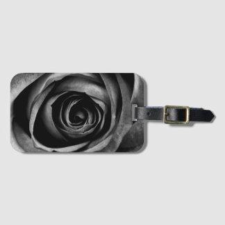 Black Rose Flower Floral Decorative Vintage Bag Tag