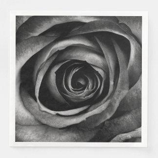 Black Rose Flower Floral Decorative Vintage Disposable Napkin