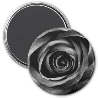 Black Rose Flower Floral Decorative Vintage Magnet