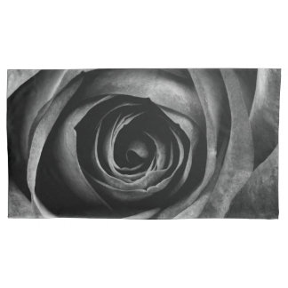 Black Rose Flower Floral Decorative Vintage Pillowcase