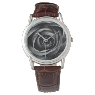 Black Rose Flower Floral Decorative Vintage Watches