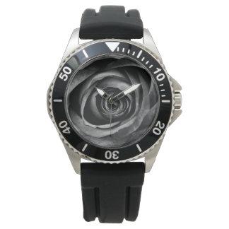 Black Rose Flower Floral Decorative Vintage Wrist Watches