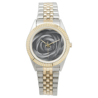 Black Rose Flower Floral Decorative Vintage Wristwatch