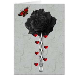 Black Rose Of Love Card