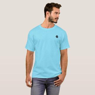 Black Rose on a Blue T-Shirt