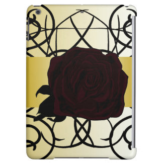 Black Rose Ornate Elegant Dressy CricketDiane iPad Air Cover