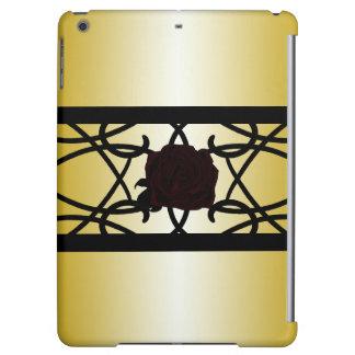 Black Rose Ornate Elegant Golden Goth CricketDiane iPad Air Cases