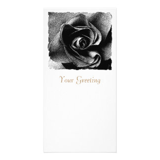 BLACK ROSE PHOTO CARD TEMPLATE