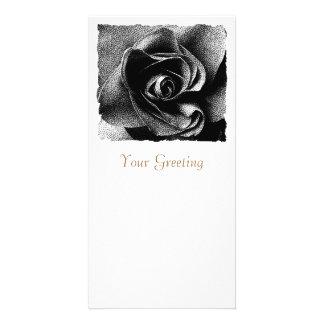 BLACK ROSE CUSTOMIZED PHOTO CARD