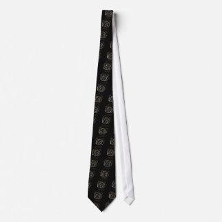 Black rose tie