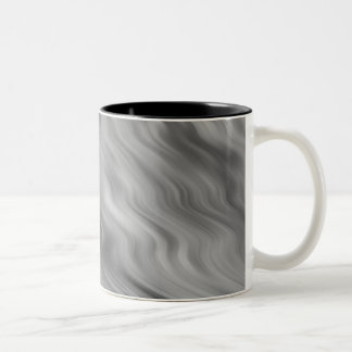 Black Rose Wavy Texture Two-Tone Coffee Mug