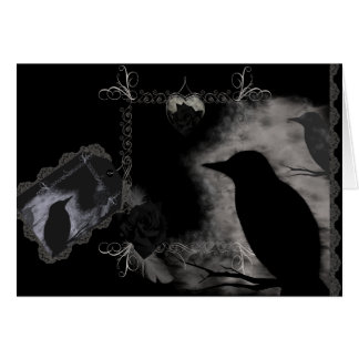 Black Roses and Ravens Card