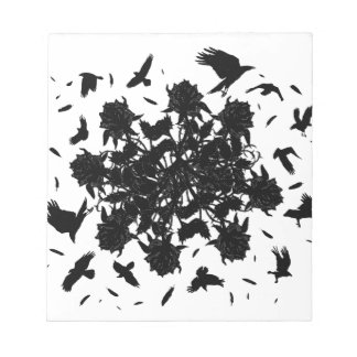 Black roses and ravens notepad