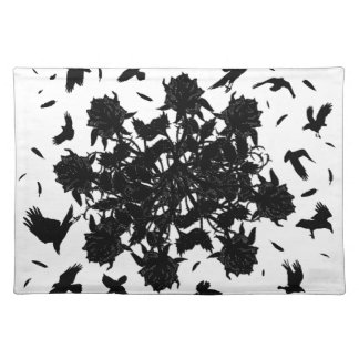 Black roses and ravens placemat