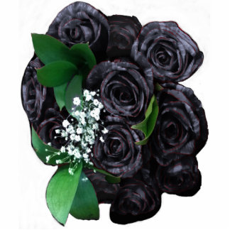 BLACK ROSES BOUQUET 3D STANDING PHOTO SCULPTURE