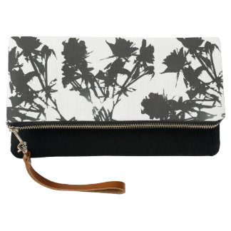 Black Roses Clutch Bag