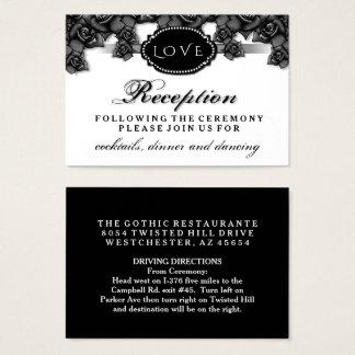 Black Roses LOVE Halloween Wedding Reception Card