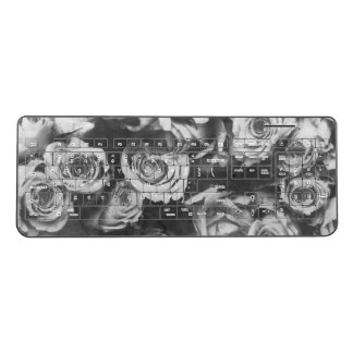 Black roses wireless keyboard