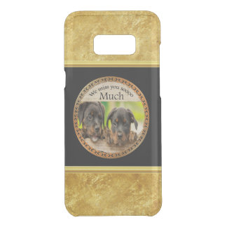 Black Rottweiler cute puppy dogs with sad faces Uncommon Samsung Galaxy S8 Plus Case