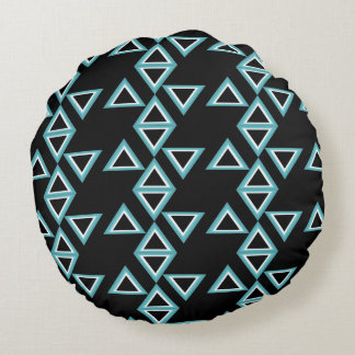 Black Round cushion (Triangles Effects)