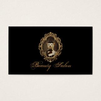 Black Royal Retro Kitty Beauty Salon Card