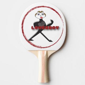 Black Rubber Back LOVERBOY CIRCLE LOGO Ping Pong Paddle