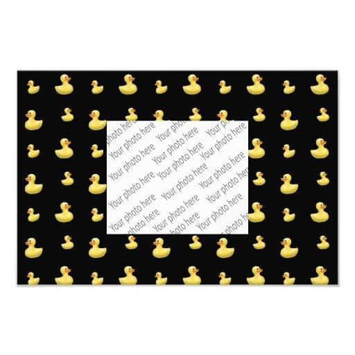 Black rubber duck pattern photo
