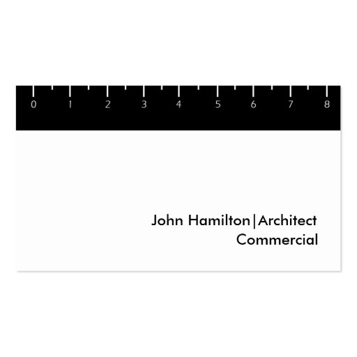 Black Ruler Business Card Template